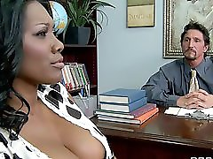 Sexy black ebony milf will do anything for her son s education