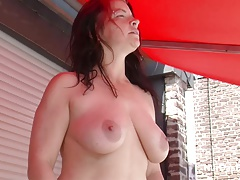 Step Son Seduce STEPmother to Fuck outdoor while Sunbathing