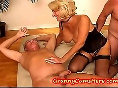 GRANNY has a SWINGERS PARTY with TEEN GRAND DAUGHTER