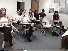 Girl spanked by her teacher