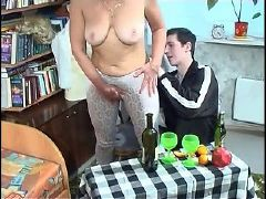 Beautiful mom with saggy tits hairy pubis guy
