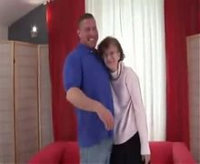 Busty mature mom and her boy amateur